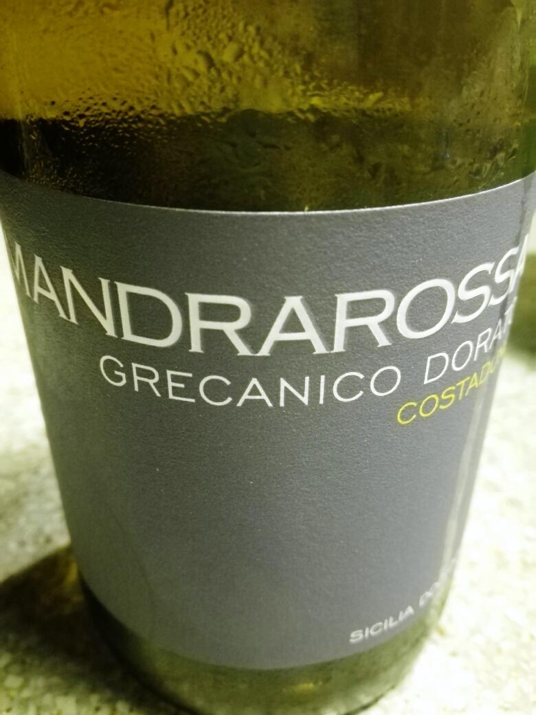 Grecanico Dorato Costadune 2017, Bianco Sicilia Doc, Mandrarossa