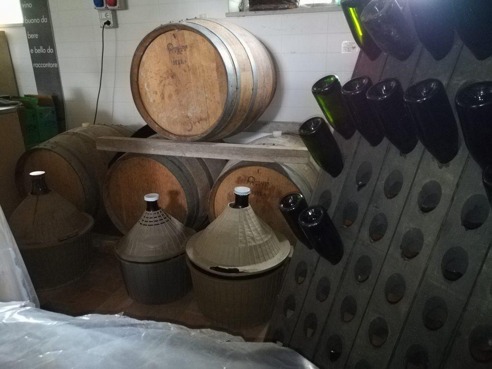 Bed & Wine Rocco Zambro - Angolo di invecchiamento nella Cantina