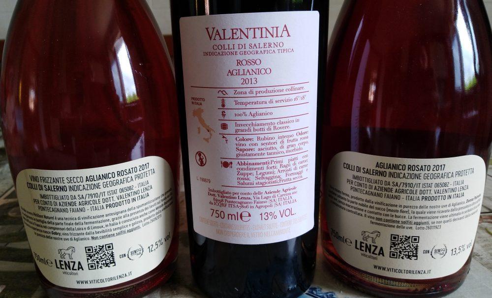 Controetichette Vini Viticoltori Lenza