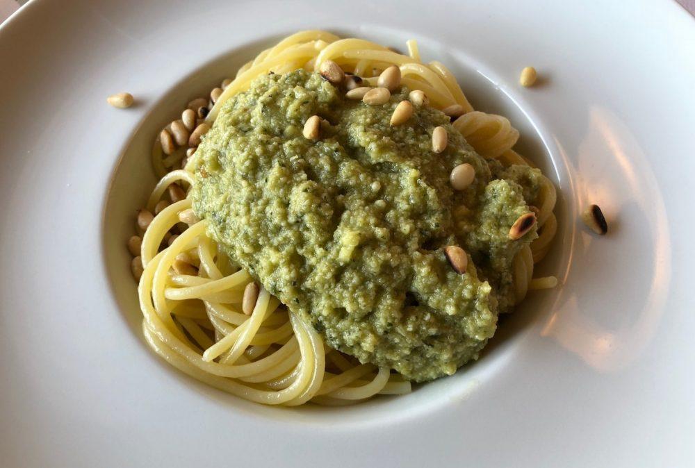Hotel De La Ville, Riccione, spaghetti al pesto