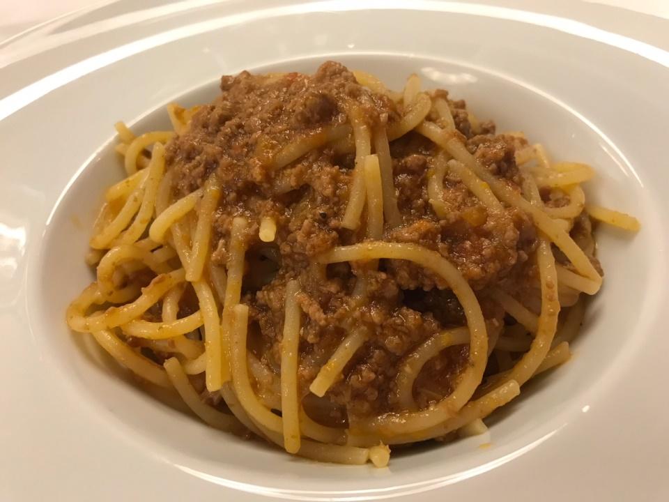 Hotel de la Ville, Riccione, spaghetti al ragu'