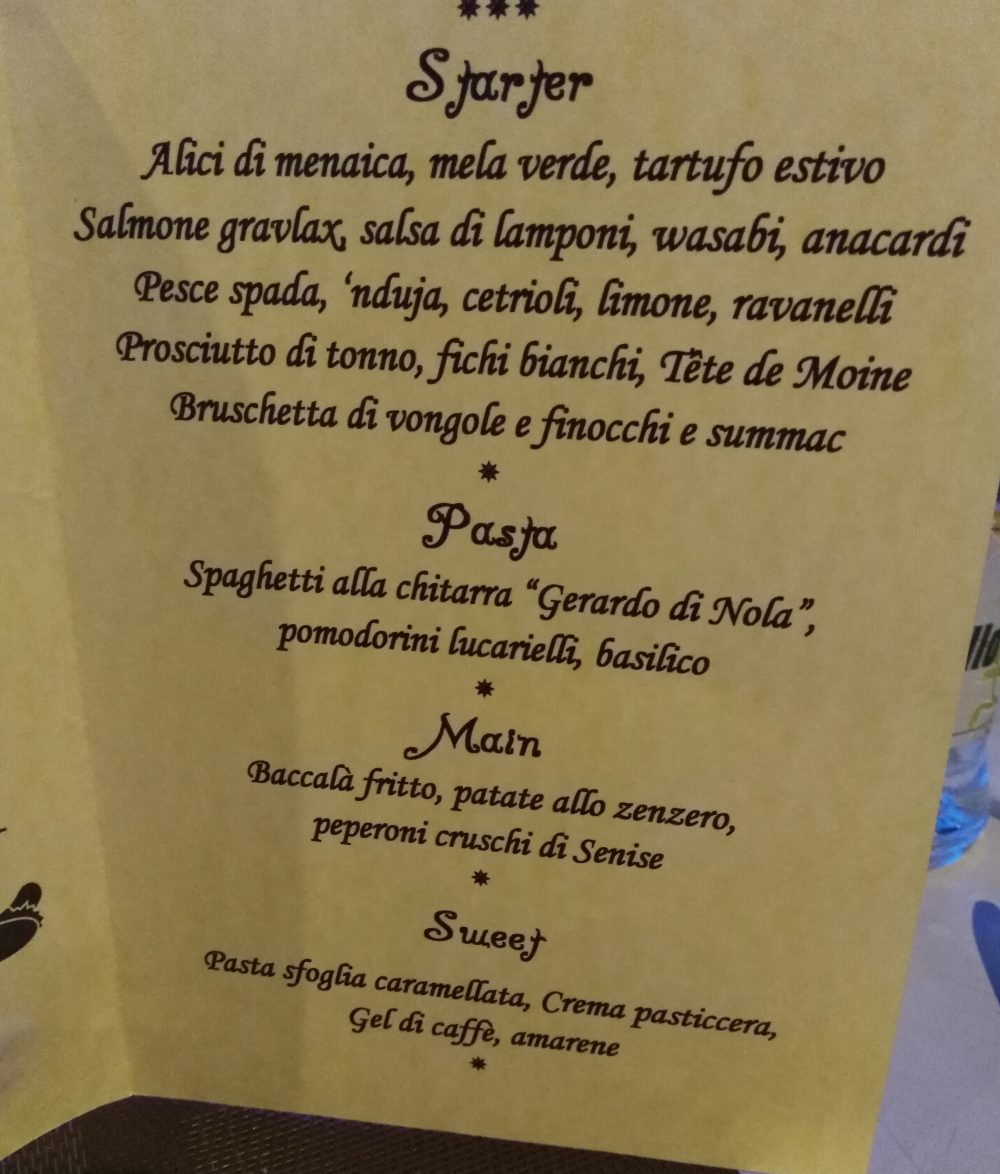 La Marmeria Food Bar Menu'