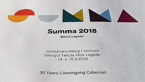 Lowengang Alto Adige Cabernet in verticale 30 years
