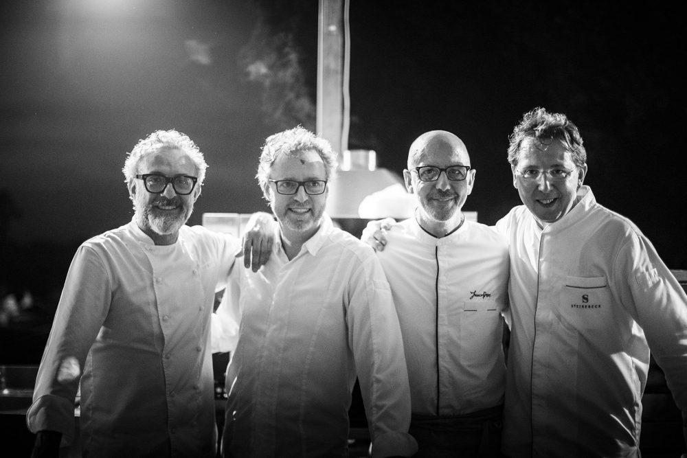 Massimo Bottura, Sven Elverfeld, Franco Pepe e Heinz Reitbauer