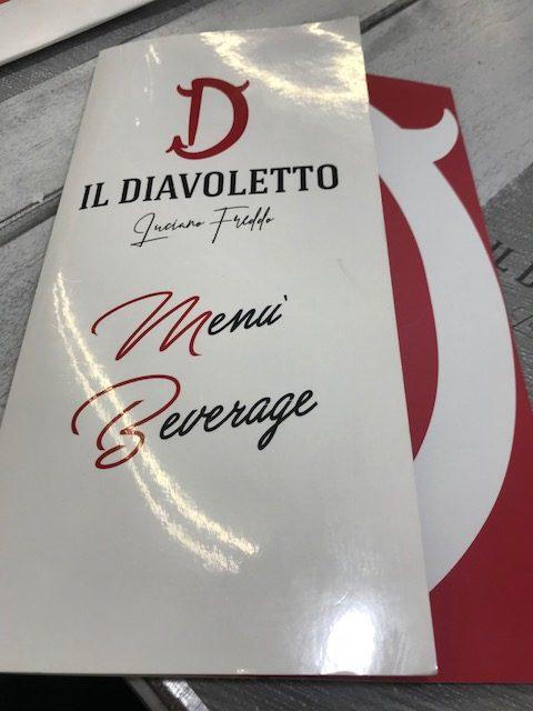 Pizzeria Il Diavoletto- Lista vini e birre
