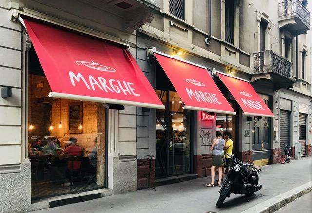 Pizzeria Marghe, Esterno via Cadore