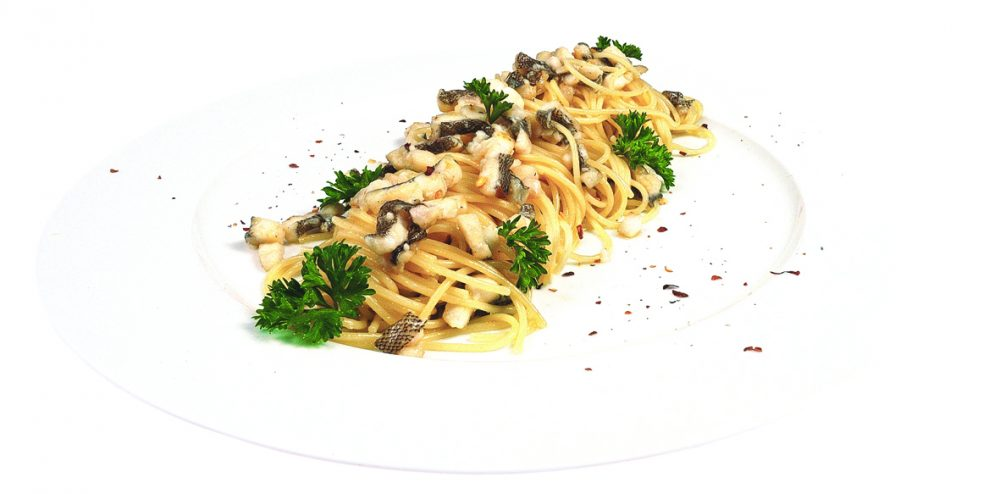 Spaghettini con sogliola e peperoncino - Villa Rosetta Umago
