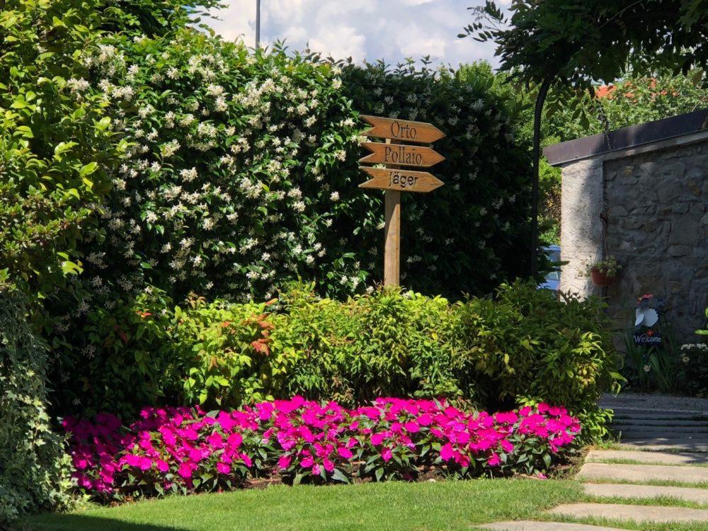 Trattoria Visconti, uno scorcio del giardino