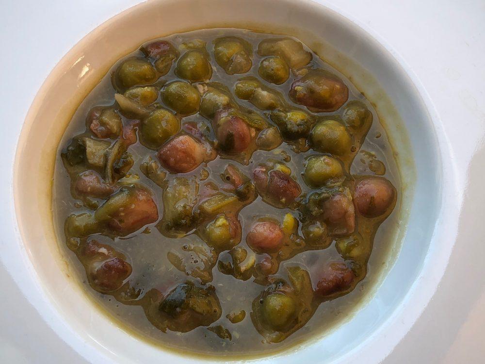 Trattoria Visconti, zuppetta piselli e fagioli dell'orto