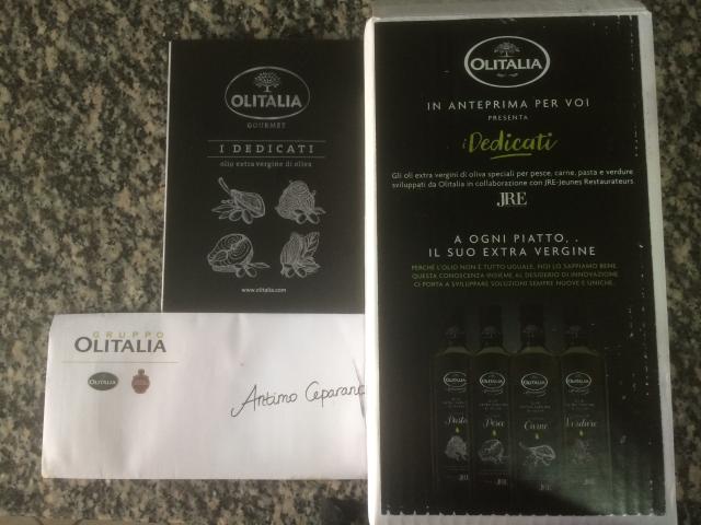 olio extravergine di oliva Olitalia - linea i Dedicati