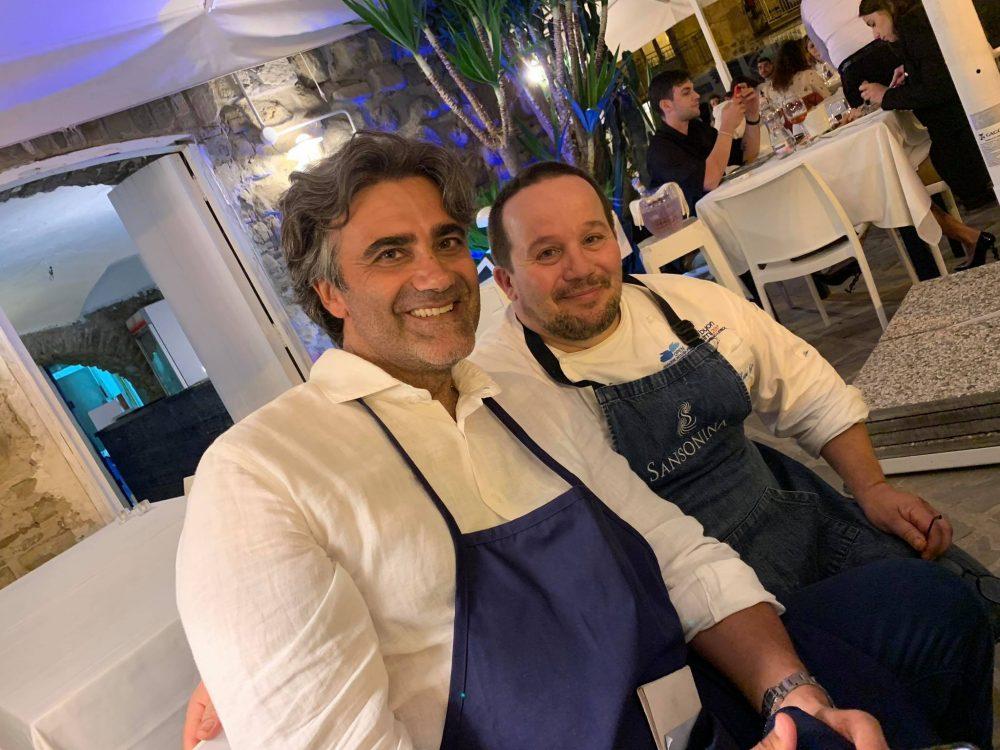 Al Veliero ad Acciaroli, Enzo Esposito e Luigi Iapigio