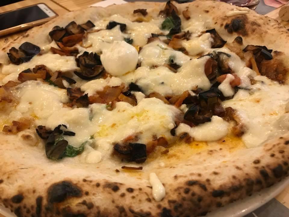 Roberto Miele Campobasso, pizza Carrese con provola, melanzane e pampanella di san Martino in Pensilis