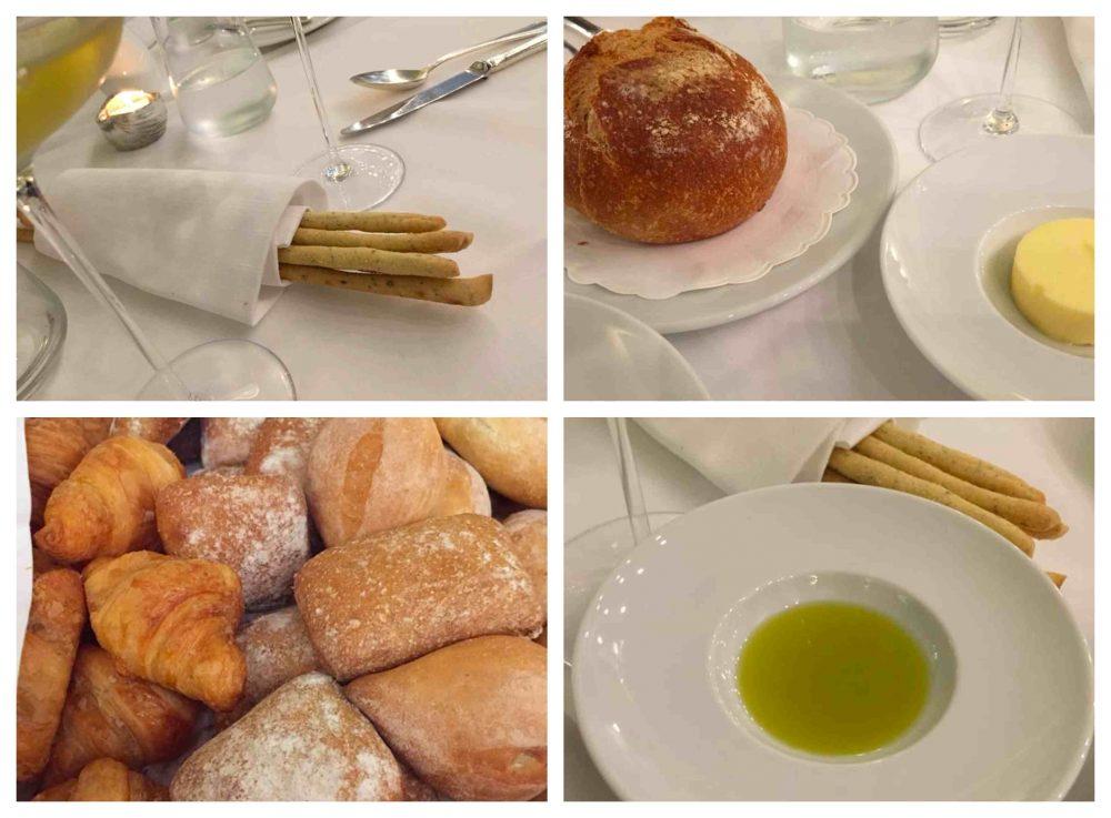 Rendez Vous al Quisisana, pane, grissini, olio e burro