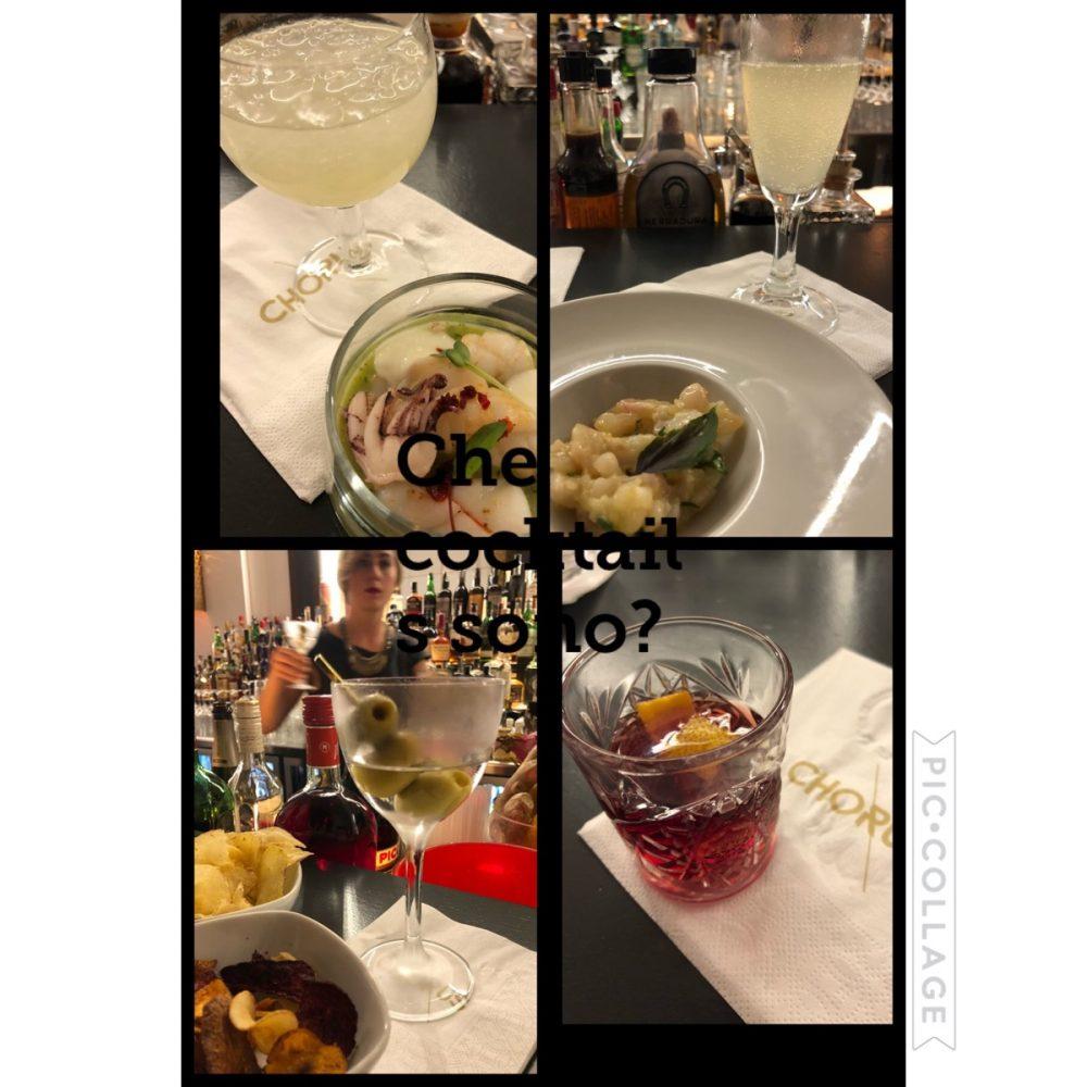 4 cocktails e 4 preparazioni in abbinamento