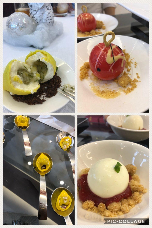 Alcuni dei dessert da gustare al ristorante l'Uliveto del Rome Cavalieri A Waldorf Astoria