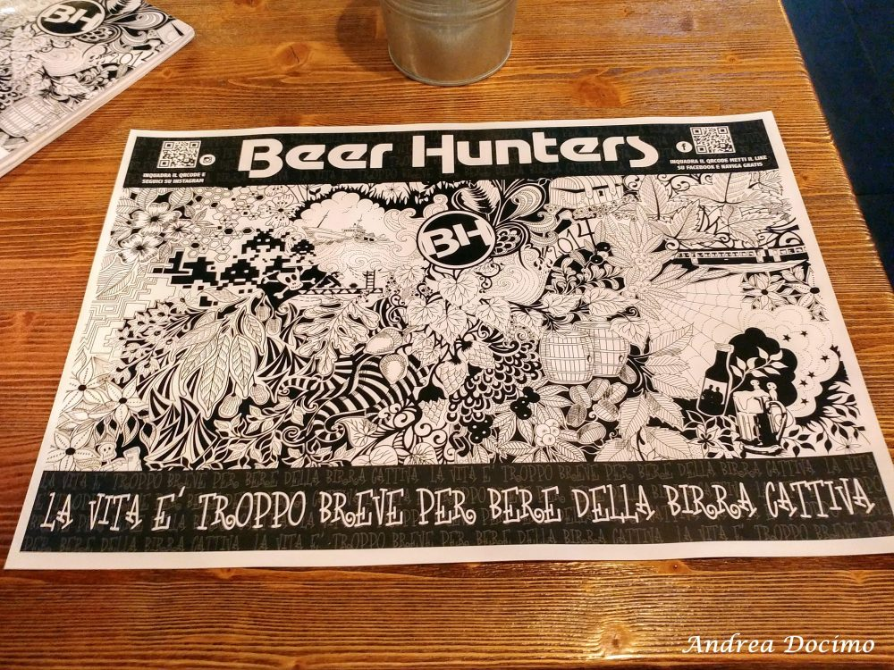 Beer Hunters ad Agropoli. La tovaglietta