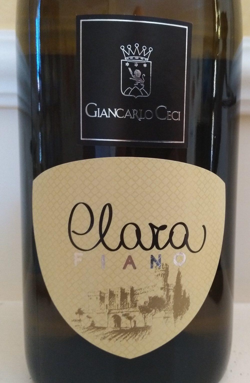 Clara Fiano Puglia Igp 2016 Agrinatura Giancarlo Ceci