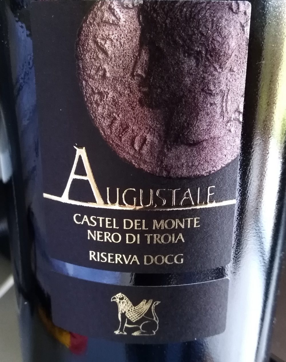 Controetichetta Augustale Castel del Monte Nero di Troia Riserva Docg Cantina di Ruvo di Puglia