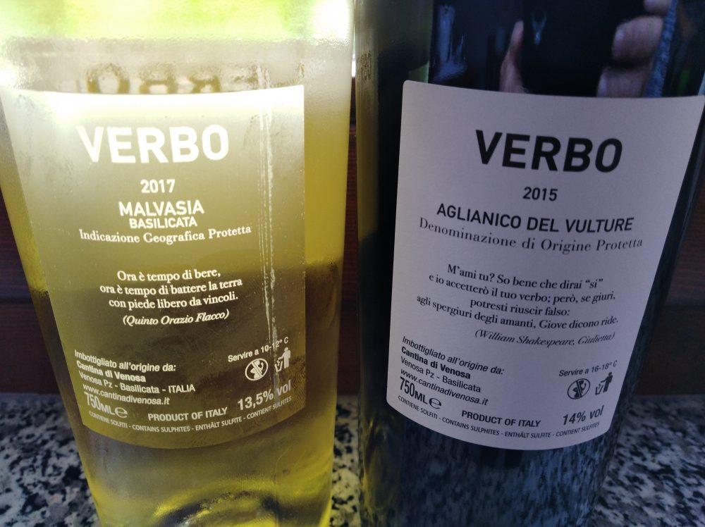 Controetichetta vini di Cantina di Venosa vincitori a Radici del Sud 2018