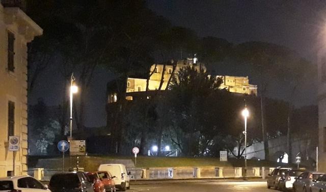 Cremilla - la vista su Castel Sant'Angelo