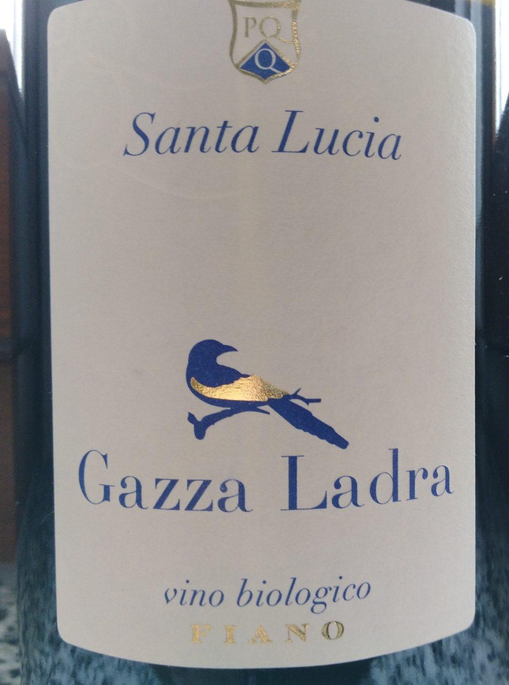 Gazza Ladra Fiano Puglia Igp 2017 Santa Lucia