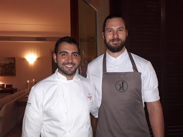 Gli chef Domenico Stile e Mikael Svensson