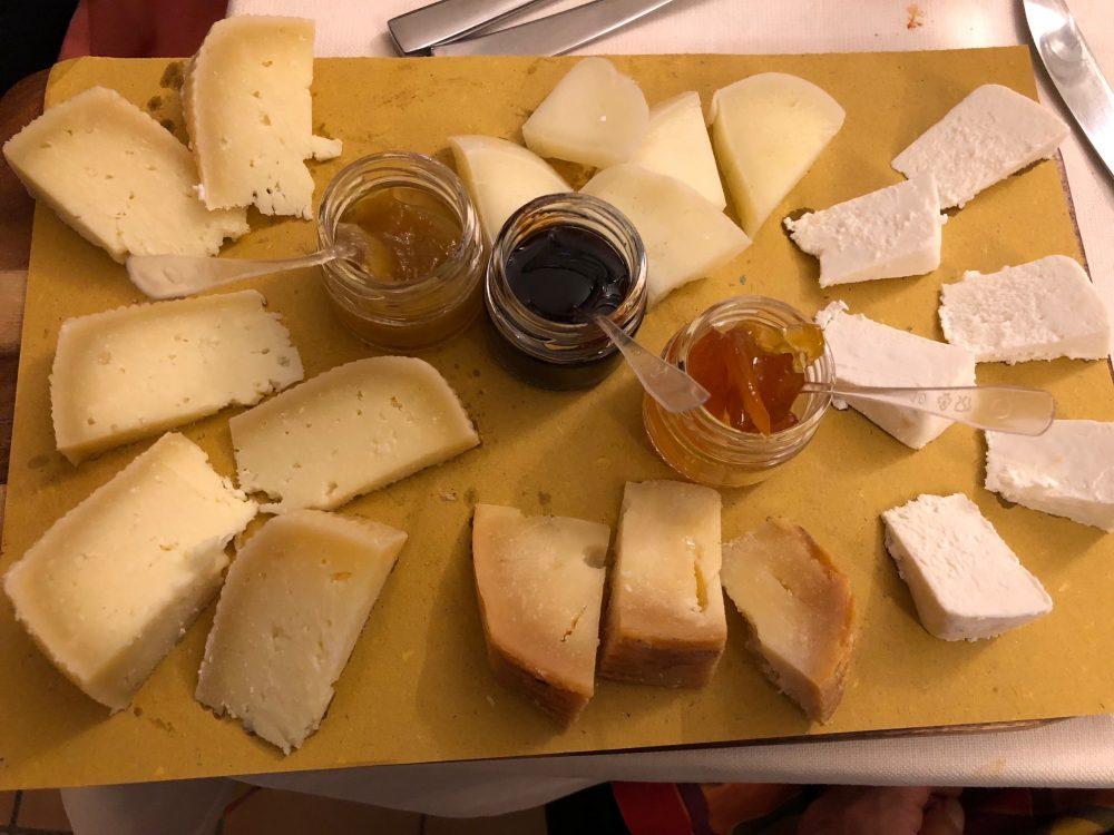 Osteria Diabasis, il tagliere dei formaggi
