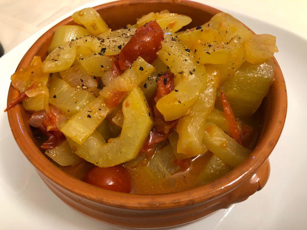 Osteria Diabasis, verdure nel coccio