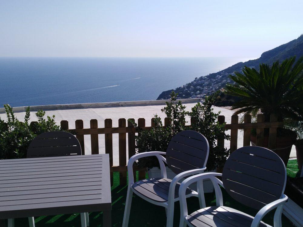 Veduta del mare di Furore dal Ristorante Melchio'