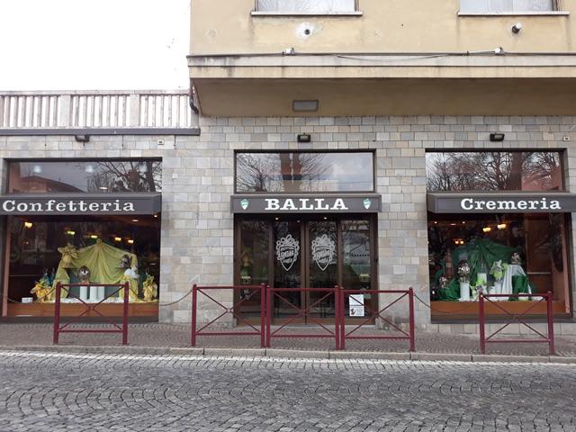 Pasticceria Balla, ingresso