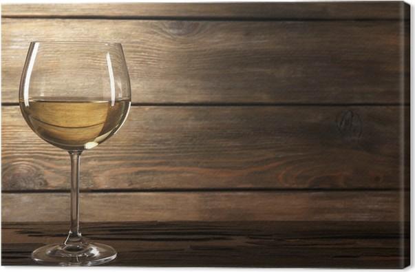 Vino bianco in legno