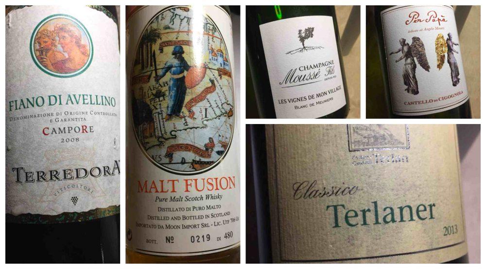 Taverna del Capitano, vini e champagne