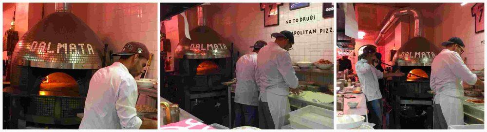 Pizzeria Dalmata, si lavora al forno
