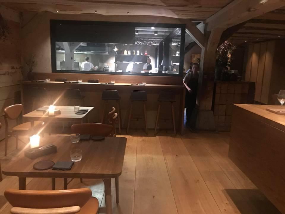 Restaurant Barr a Copenhagen, sala e cucina