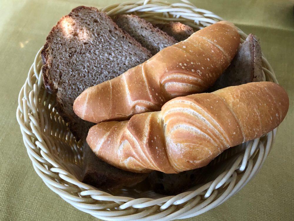 Antica Trattoria del Gallo, il cestino del pane