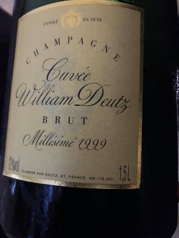 Champagne Deutx Cuvèe William Deutx 1999