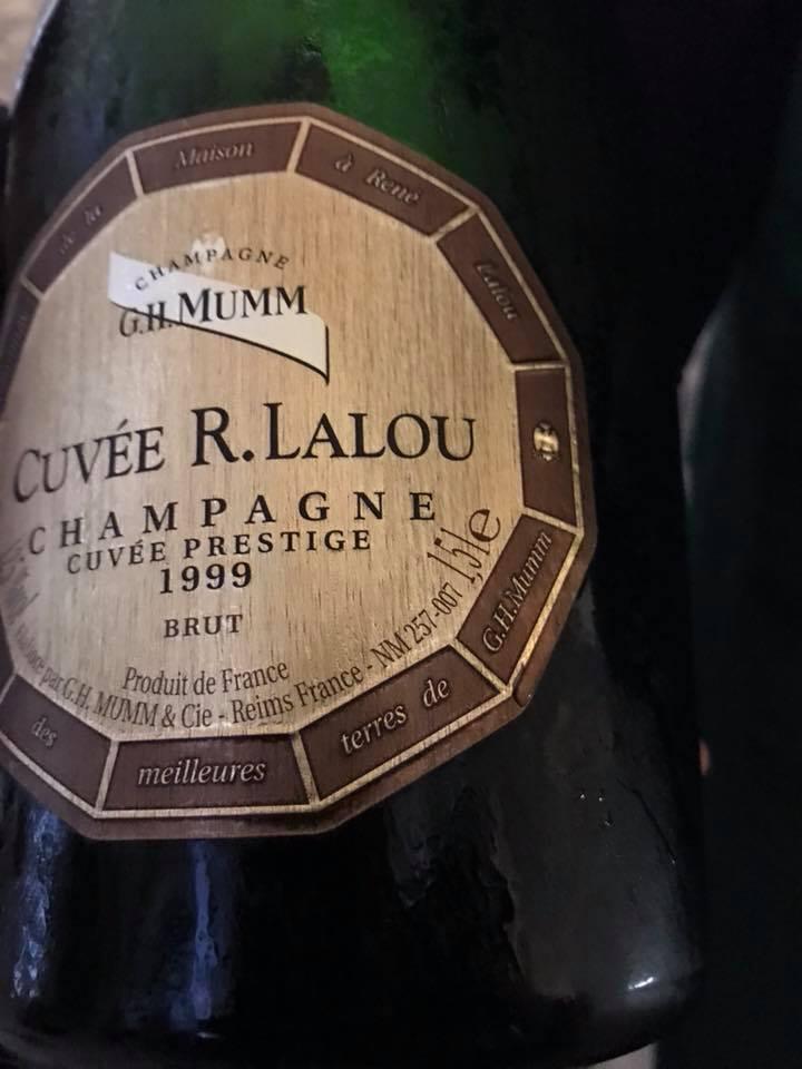 Champagne H.Mumm Cuvée R Lalou 1999