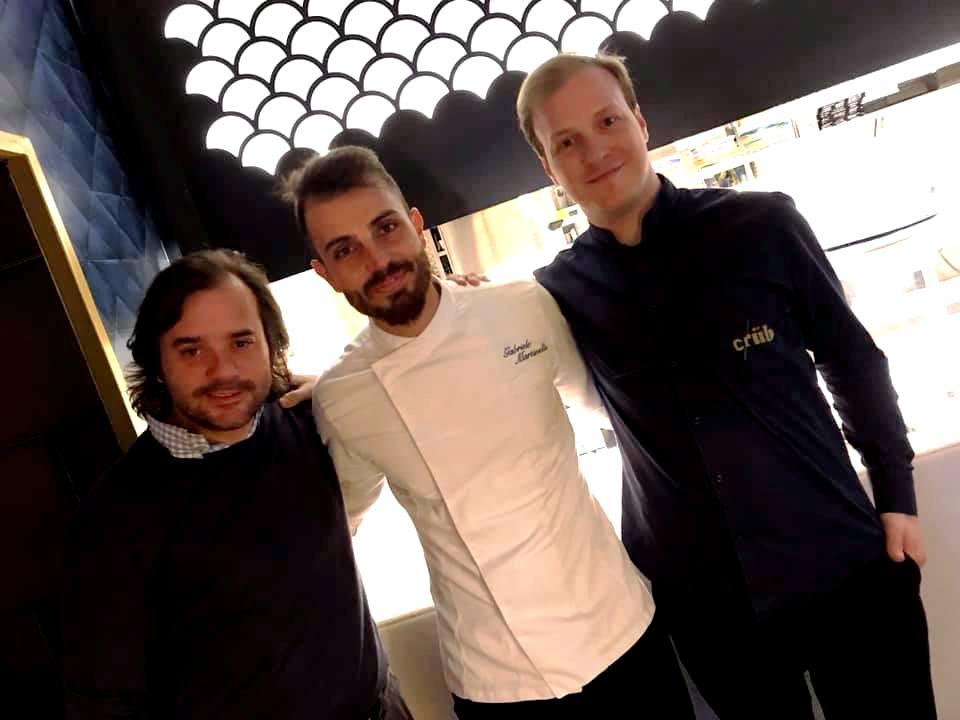 Crub, Francesco Palumbo, Gabriele Martinelli ed il direttore di sala