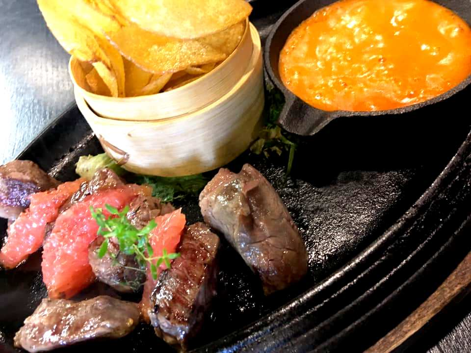 Nagairo - Filet Mignon, Guacamole di Avocado & Barbabietola & Chips
