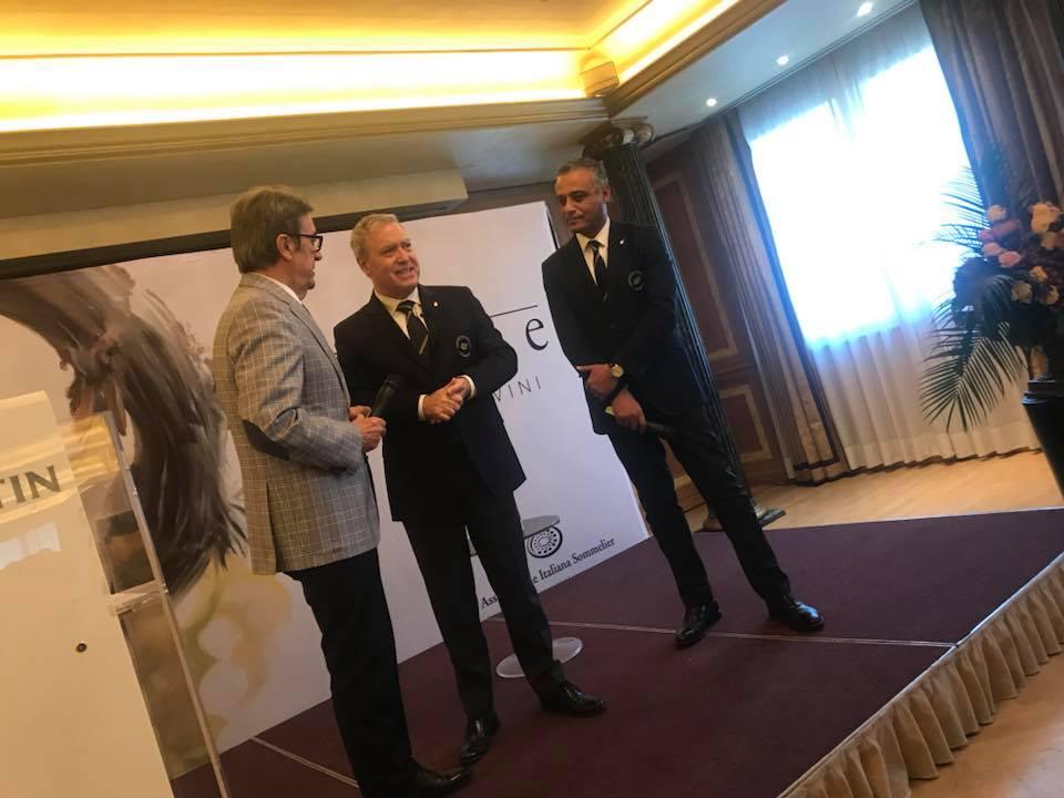 Guida Ais Antonello Maietta tra Riccardo Cotarella e Hosam Eldin Abou Eleyoun