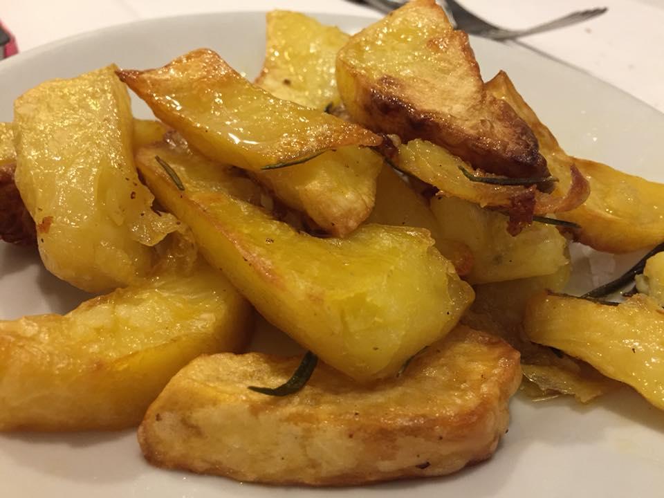 Hostaria Romana, patate al forno