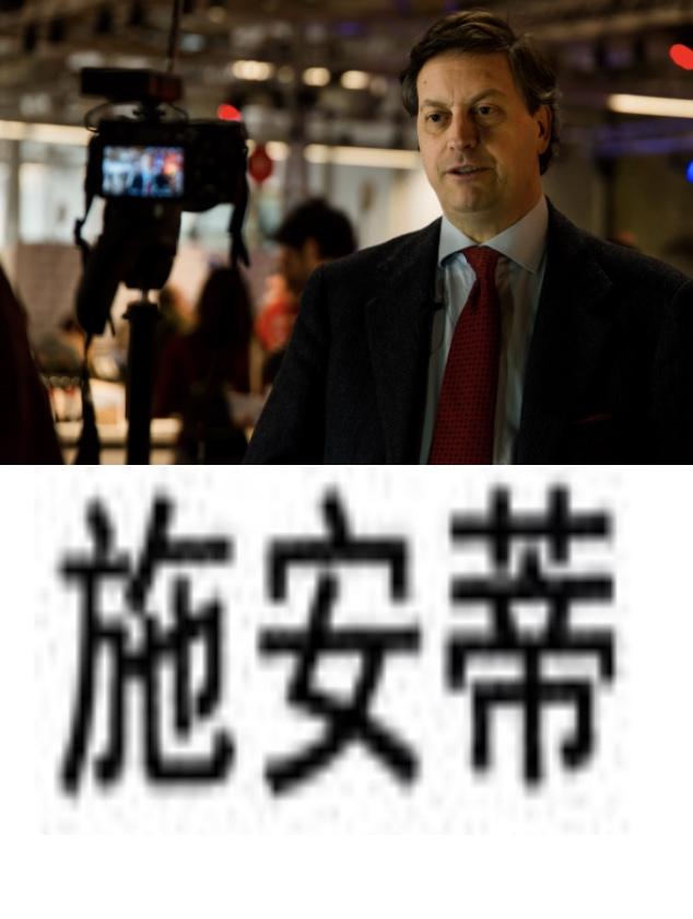 Il Presidente del Consorzio Vino Chianti Giovanni Busi- i caratteri cinesi di' Shiandi