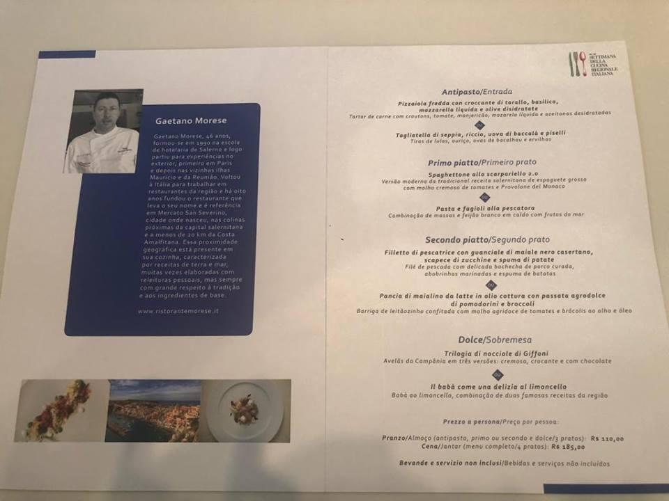 Il menu' di Morese