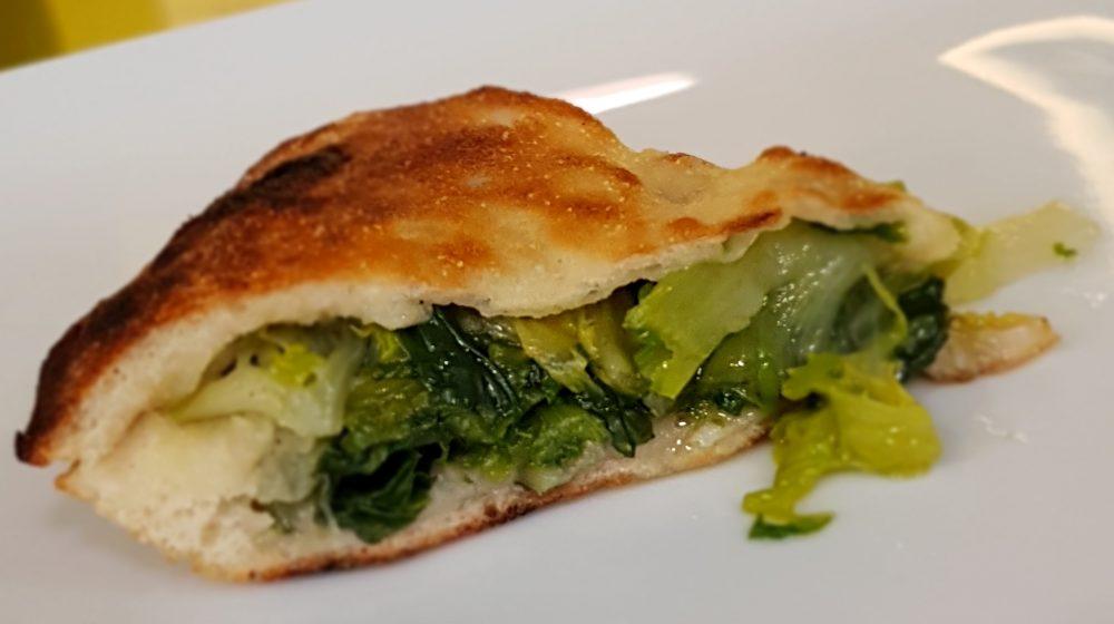 La pizza di verdure cotta nel ruoto