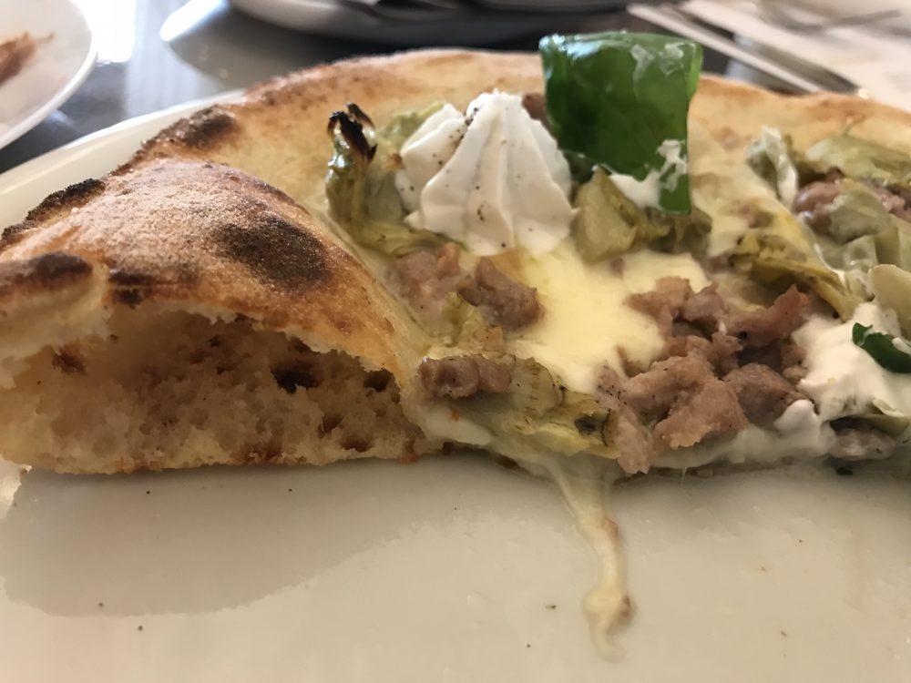Lievitalmente Pino - sezione della pizza
