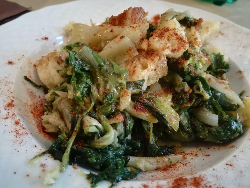 Tenuta Nonno Luigi - Mnestra cu muzzuc. Verdura spersa Con tocchetti di pane raffermo