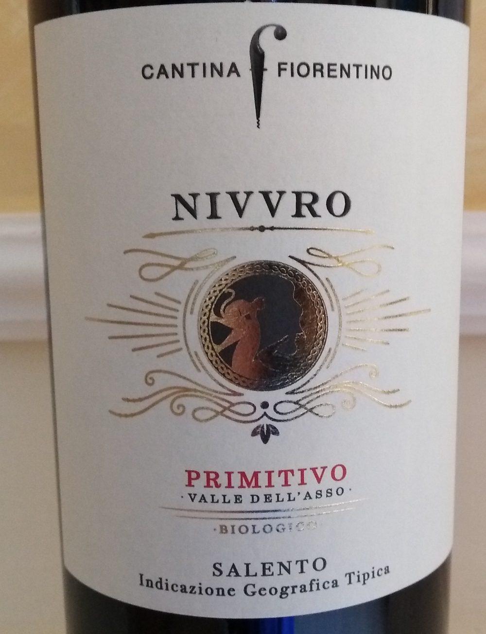 Nivvro Primitivo Salento Igp 2016 Cantina Fiorentino