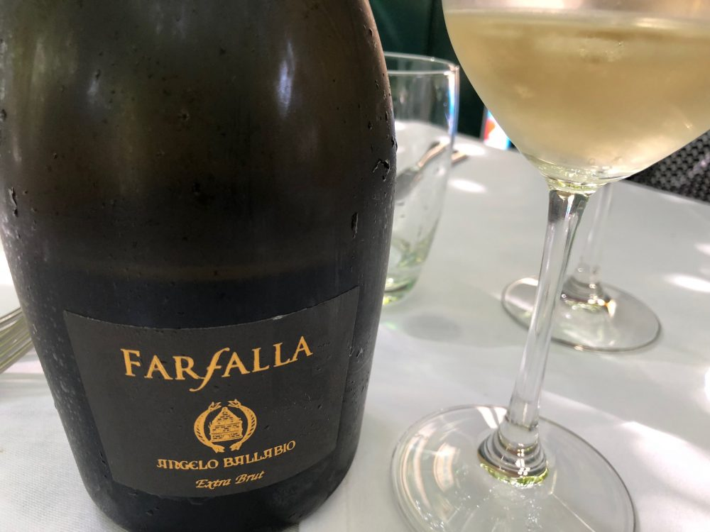 Osteria Grand Hotel, Farfalla, Extra Brut Blanc de noirs di Angelo Ballabio