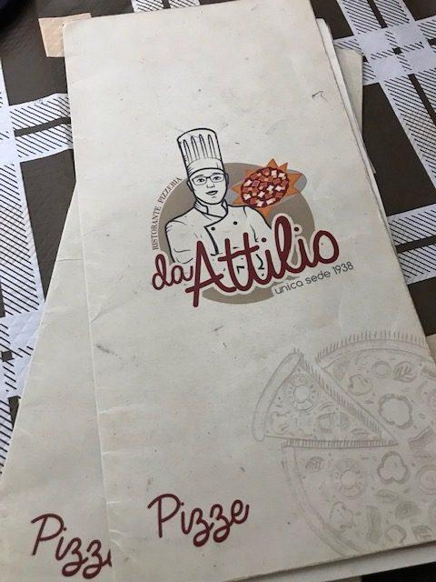 Pizzeria da Attilio - Menu'