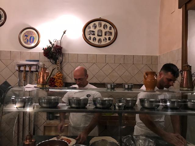 Pizzeria da Attilio - banco di lavoro